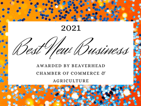 """Honored to be Awarded 2021 """"Best New Business"""""""