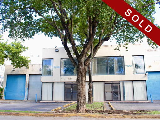 SOLD!  8,416 SF Warehouse at Milam Airport Park