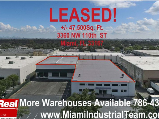 ComReal Assists Investor in Leasing Industrial Building in Miami to Company from New York