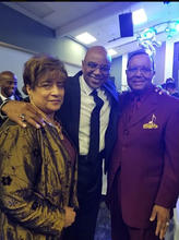 Dr. Mike Freeman, Jerry Cummings and Dr. Gloria Cummings