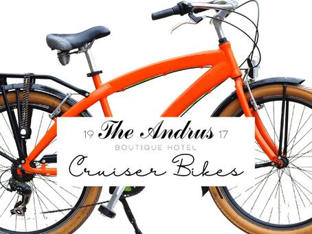 The Andrus Hotel Cruiser Bikes Are Here!