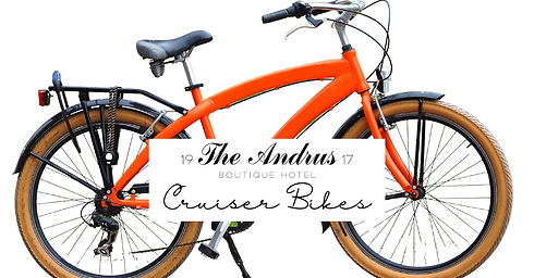 The Andrus Hotel Cruiser Bikes