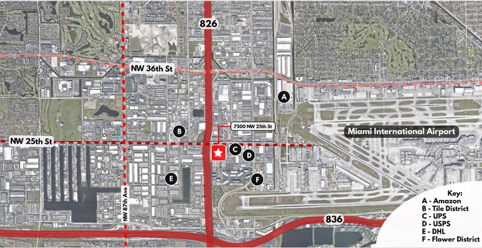 7500 NW 25th Street Miami Map