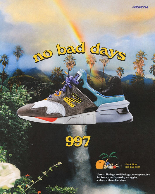 Bodega x New Balance 997S No Bad Days ad