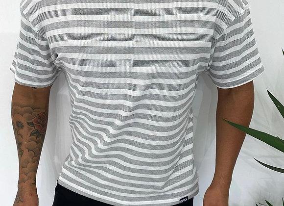 Oversize Çizgili T-shirt