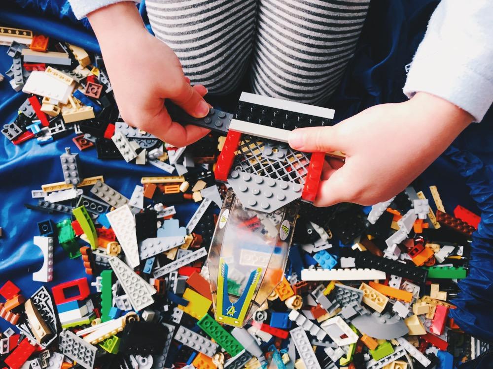 DIY Brick Parties play pit