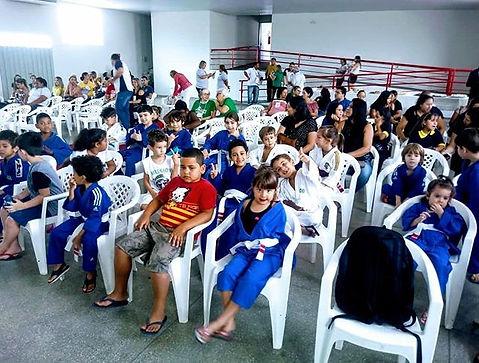 Hoje os alunos do judô do primeiro horár
