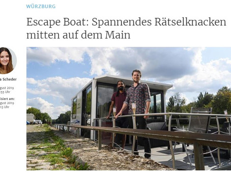 Mainpost Würzburg besucht Escape Boat