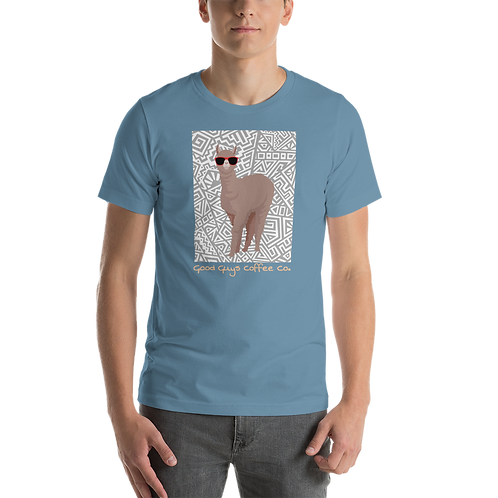 The Alpaca Short-Sleeve Unisex T-Shirt in Various Colors