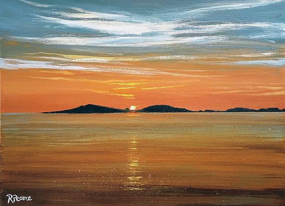 Samson  sunset 16x12ins