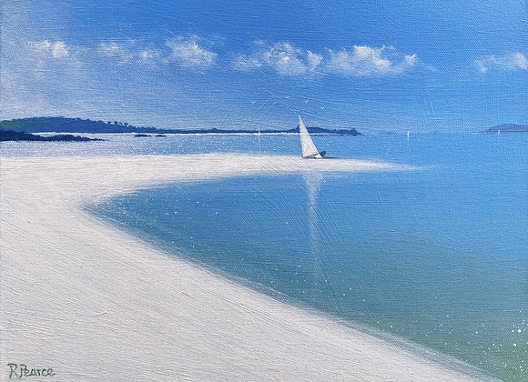 Samson landing beach  12x16ins