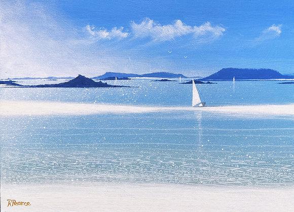 Tresco plumb Island sandbar 16 x 12ins