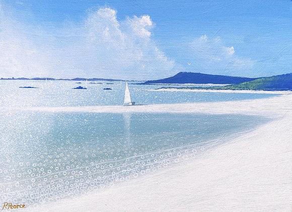 Samson beach 16 x 12ins