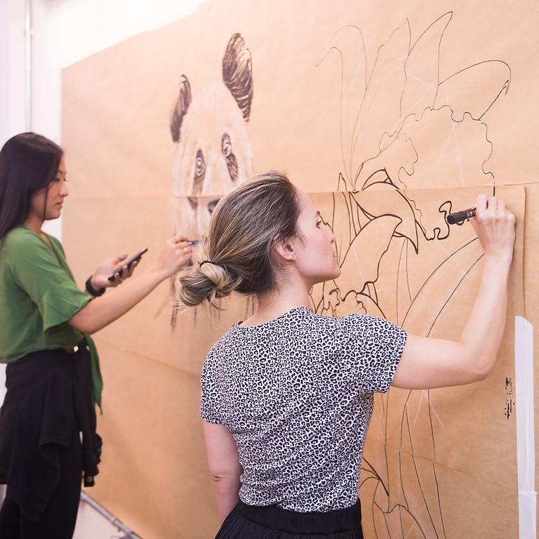 """Workshop """"A parede como tela"""" 05/09"""