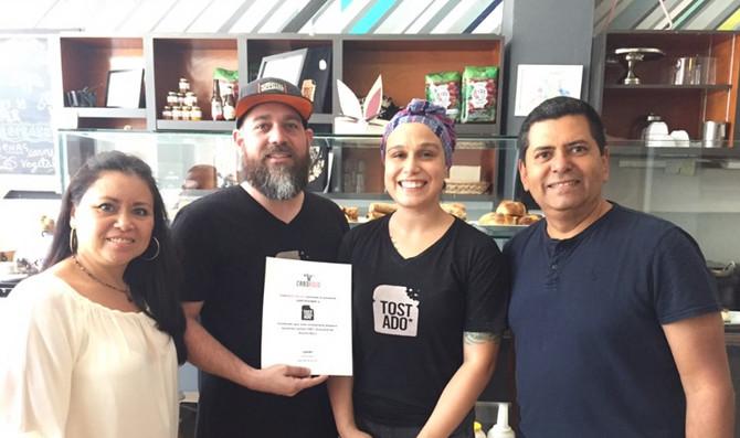 Tostado recibe el Certificado de 100% Grassfed Restaurant de CaboRojo Steaks!!