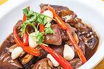 pork feet with chili and garlic stewed_e