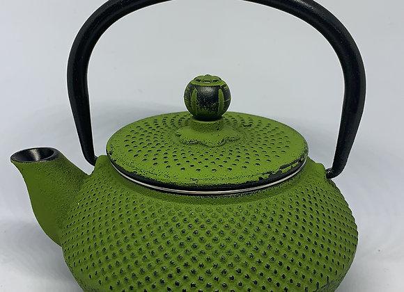 Tetera en hierro fundido verde con filtro metalico 300 ml