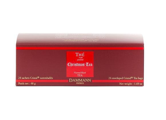 CHRISTMAS TEA, BLACK TEA, BOX OF 24 ENVELOPED CRISTAL® SACHETS