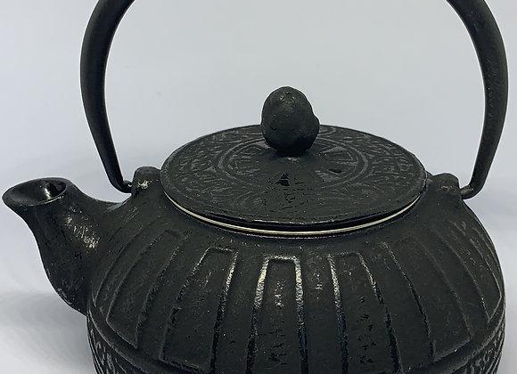 Tetera en hierro fundido negra kaiping con filtro metálico 350 ml