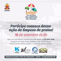 Niltex pôde apoiar essa causa, doando os suportes para a ação de limpeza que aconteceu na praia de Caraguatatuba, Litoral Norte de São Paulo