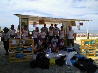 Ação limpeza de micro-lixo-São Sebatião