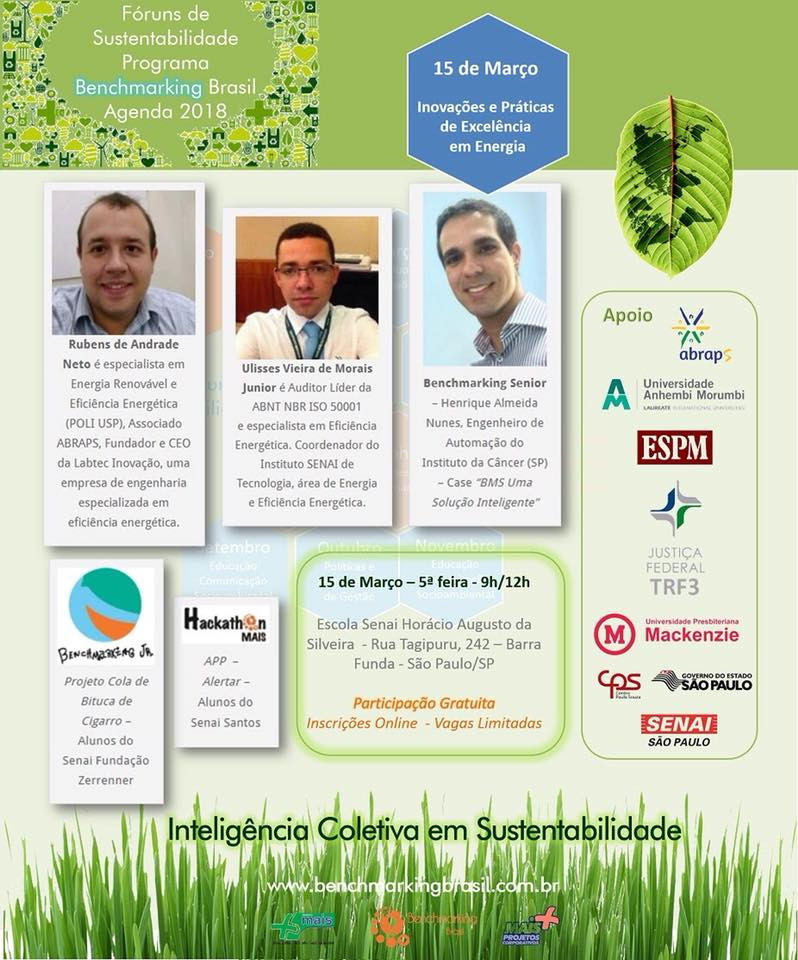 Convite para participação do Programa Benchmarking Brasil 2018