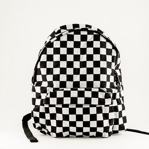 Checkered Canvas Back Pack