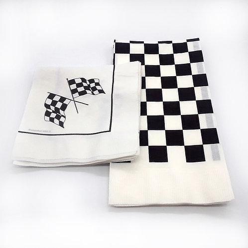 Checkered Paper Napkins (25),(20)