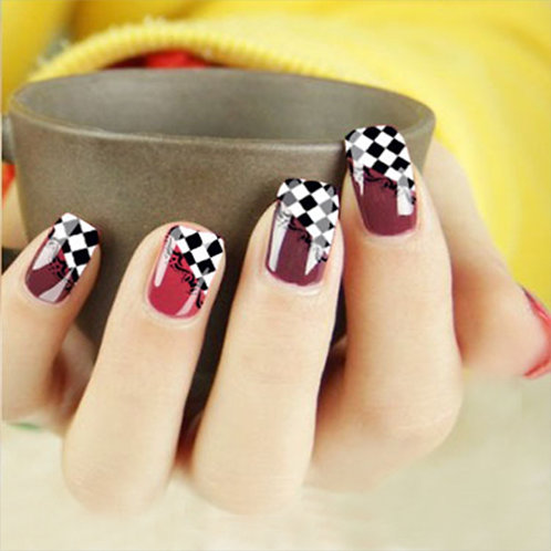 Checkered Nail Decals