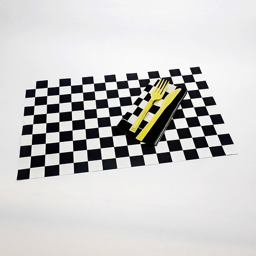Checkered Paper Place Mats (12)