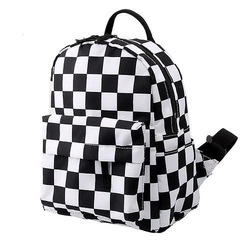 Mini Checkered Backpack