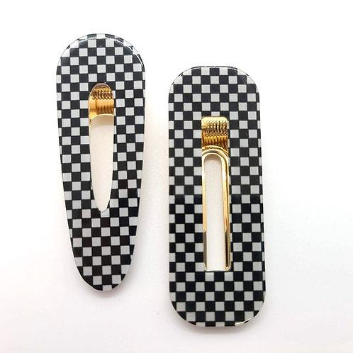 Checkered Hair Clip