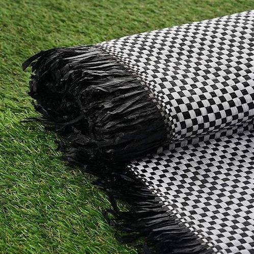 Checkered Raffia Picnic Blanket/Mat