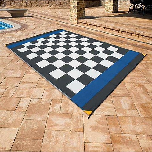 Checkered  Indoor/Outdoor  Racing Mat