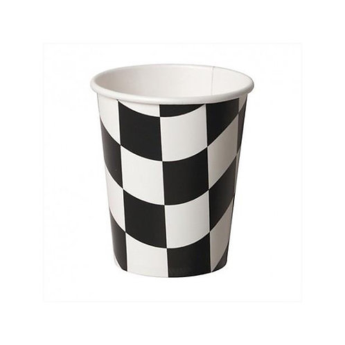 Wavey Checkered Paper Cups (8)