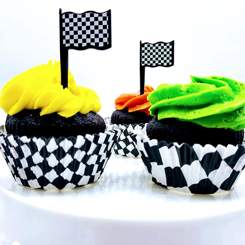 Checkered Cupcake Wrappers (25)