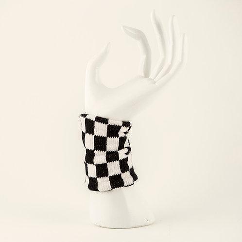 Checkered Wrist Sweatband