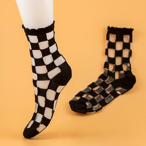 Checkered Nudie Socks