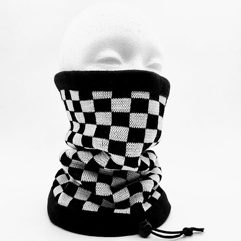 Checkered Double Layer Neck Warmer