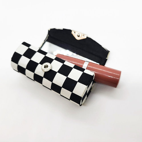 Race Flag Checkered  Lipstick Case