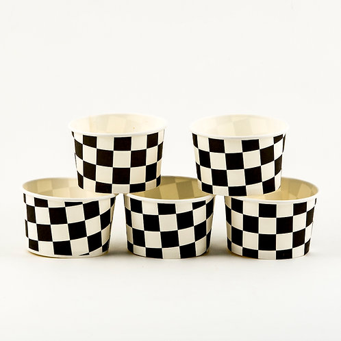 Checkered Ice Cream Cups (5)