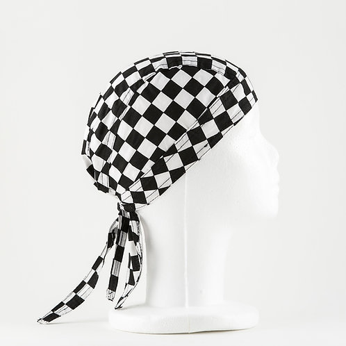 Black and White Scull Cap