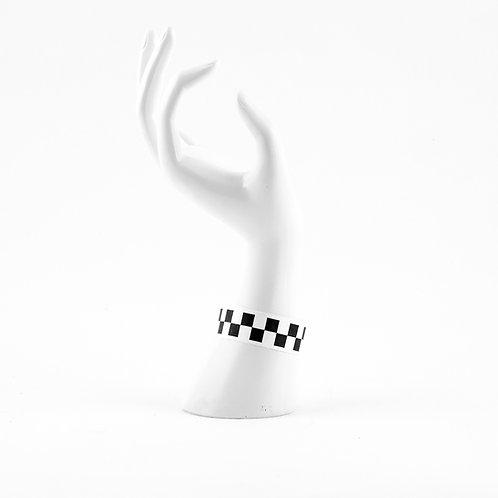Checkered Tyvek Wrist Band/Ticket (25)