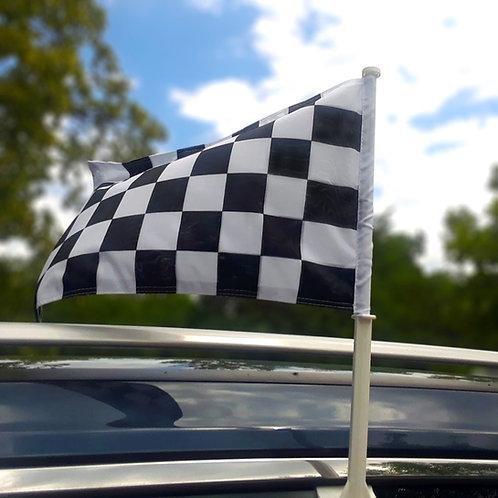 Checkered Car Window Flag
