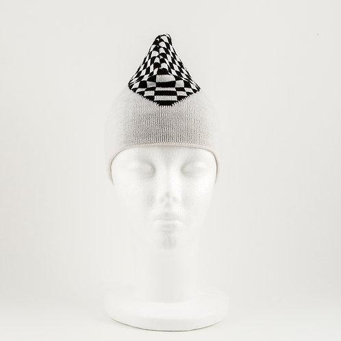 Checkered Top Beanie