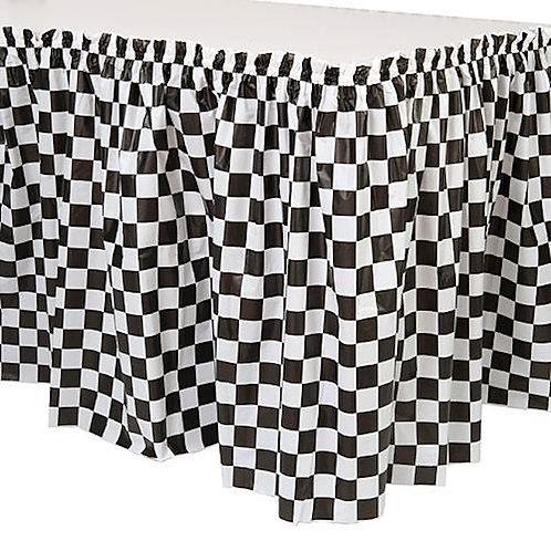 Checkered Table Skirt