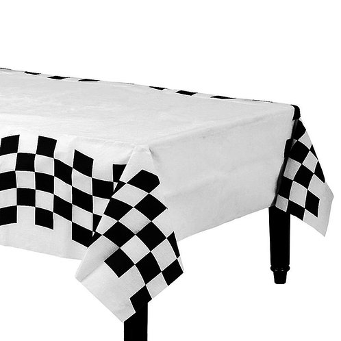 Checkered Side Paper Tablecloth