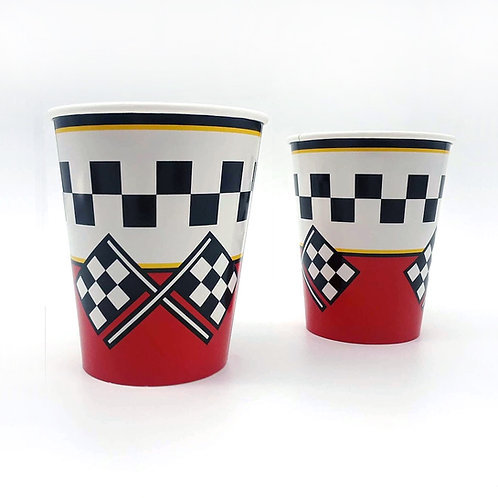 Checkered Flag Paper Cups (8)