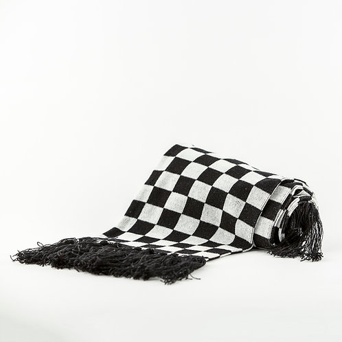 Checkered Fringe Scarf
