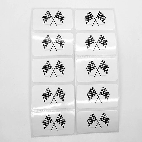 Racing Flag Checkered Stickers